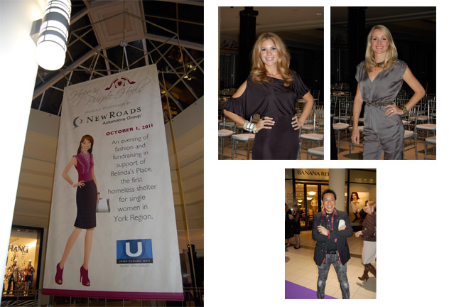 Hope In Purple Heels, Upper Canada Mall, Charity, Newmarket Ontario, Dina Pugliese, CityTV, Breakfast Television, BT Toronto, Liv Judd, LouLou Magazine, Fashion editor, Fashion event