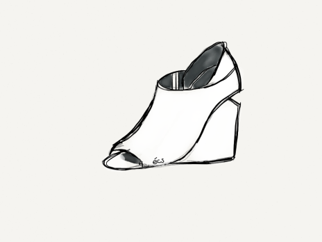 shoe, wedge shoes, alla open toe wedge, footwear, alexander wang, alexanderwangxhm, h&m, h&m canada, h&m toronto, designer collaboration, designercollaboration, shopbop, shop bop, fashion illustration, fashion sketch, sketch, illustration, made with paper, madewithpaper, fiftythree, elanacamille, elana camille, blogger, fashion blogger, style blogger, style, fashion