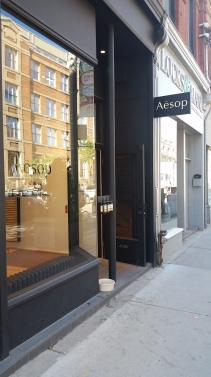 store front, Toronto store, Queen St, Queen St., Queen Street West, Toronto neighbourhood, Aesop storefront, Aesop design, Toronto beauty, Toronto beauty blogger, beauty blogger, Canadian Beauty Blogger, Canadian blogger, Toronto fashion, Toronto fashion blogger