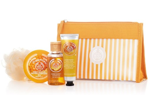 the body shop, honeymania, honey scent, honey, body shop canada, body shop, gift set