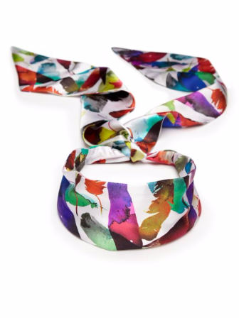 Colette Malouf, Feather Print Silk Head Scarf, Saks Fifth Avenue, Saks Fifth Avenue Toronto, Saks Fifth Avenue Queen St, Saks Fifth, Saks, Saks online shopping, Saks Canada