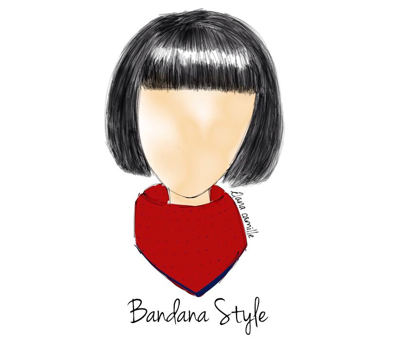scarf bandana style, bandana scarf, fashion scarf, scarf street style, street style scarf